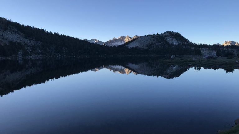 Where lakes are like mirrors for the universe
